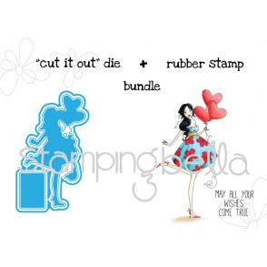 "Balloonabella V.2.0 ""CUT IT OUT"" die + STAMP BUNDLE (save 15%!)"